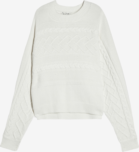 Miss Selfridge Pullover 'DT:CABLE BATWING' in offwhite, Produktansicht
