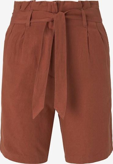 TOM TAILOR Paperbag-Shorts in braun, Produktansicht