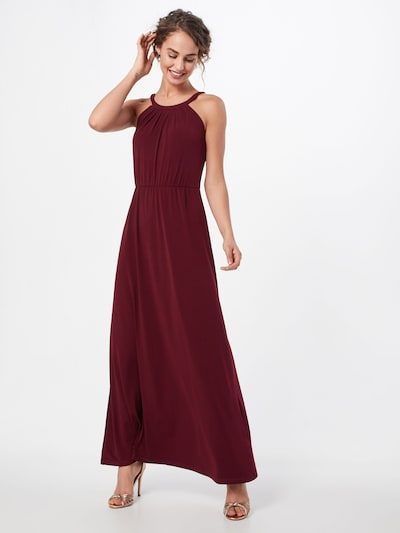 ABOUT YOU Evening dress 'Cathleen' in bordeaux, View model