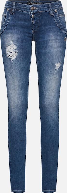 Jean Glücksstern Bleu 'jeans' En DenimFoncé OP80Xnwk