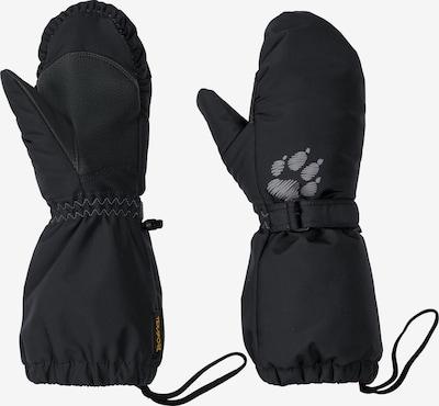 JACK WOLFSKIN Fausthandschuhe 'Texapore Mitten' in grau / schwarz, Produktansicht