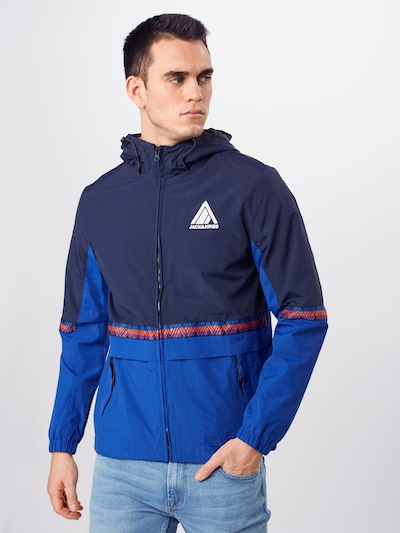 JACK & JONES Jacke in blau: Frontalansicht