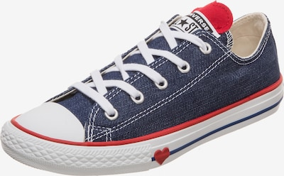CONVERSE Sneaker in blau / rot: Frontalansicht