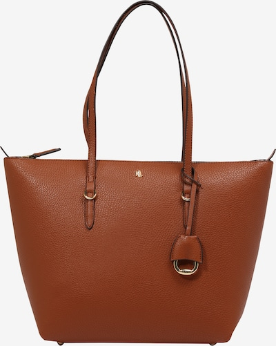 Lauren Ralph Lauren Shopper torba 'KEATON' u smeđa / zlatna, Pregled proizvoda
