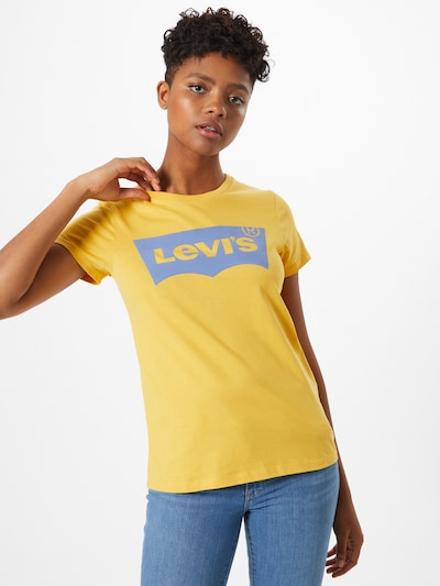 LEVI'S T-Shirt 'Batwing' in blau / gelb: Frontalansicht