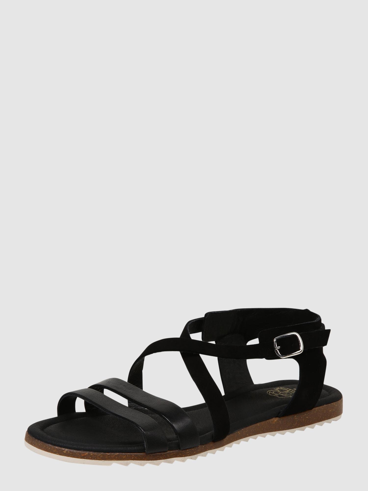apple of eden sandalen met riem 39 mila 39 in zwart about you. Black Bedroom Furniture Sets. Home Design Ideas