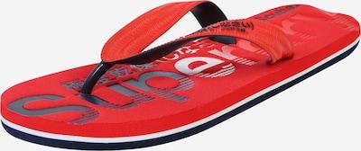 Superdry Teenslippers in de kleur Rood / Zwart / Wit, Productweergave
