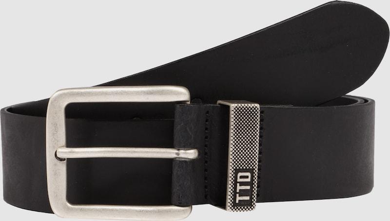 Tom Tailor Denim Leather Belt With Metal Loop