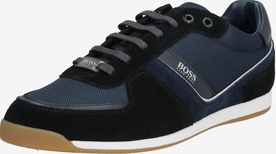 BOSS Sneaker 'Glaze' in dunkelblau / weiß: Frontalansicht