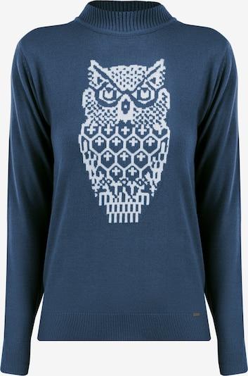 Finn Flare Pullover in blau / weiß, Produktansicht