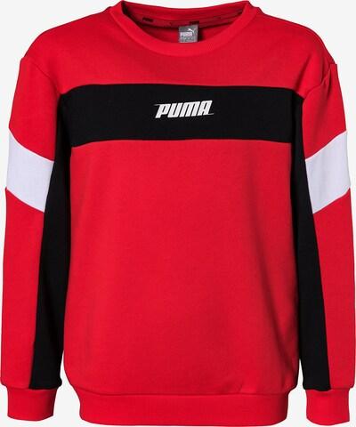 PUMA Sweatshirt 'Rebel Crew' in rot / schwarz / weiß, Produktansicht