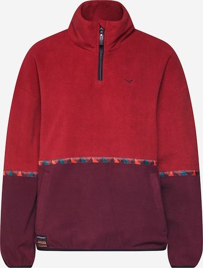 Iriedaily Sweat-shirt 'Hopi Fleece Troyer' en rouge / bordeaux, Vue avec produit