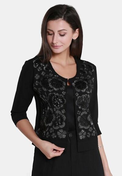 Usha Strickjacke in schwarz / silber, Modelansicht