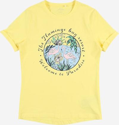 NAME IT Shirt 'Vix' in hellblau / gelb / hellgrün / rosa / schwarz, Produktansicht