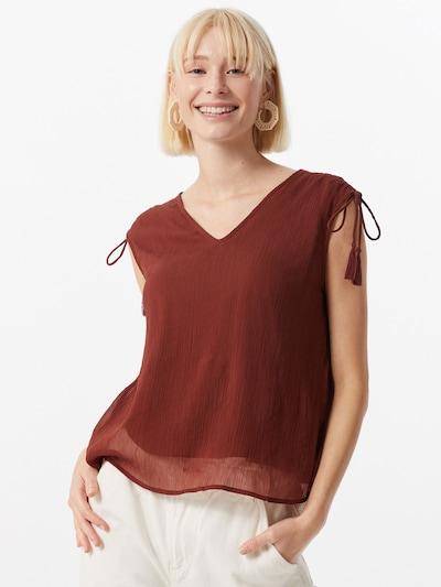 VERO MODA Shirt 'Penelope' in rostbraun: Frontalansicht