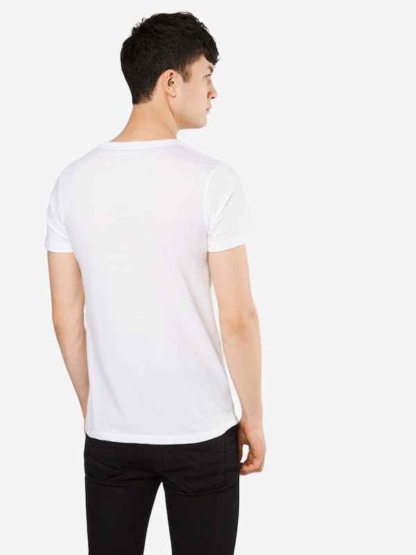 TOM TAILOR DENIM T-Shirt 'NOS melange tee with print'