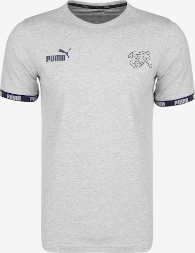 PUMA T-Shirt 'SFV Schweiz FtblCulture EM 2020' in marine / graumeliert / weiß, Produktansicht
