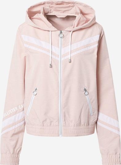 HOLLISTER Kurtka przejściowa w kolorze różowy pudrowy / białym, Podgląd produktu