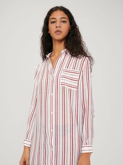 EDITED Kleid 'Savanna' in rot / weiß, Modelansicht