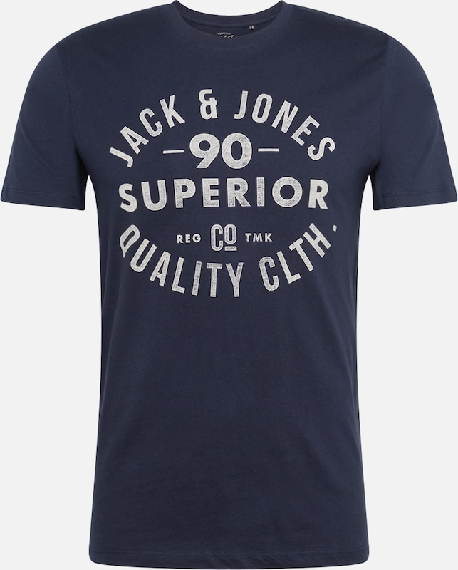 JACK & JONES T-Shirt in navy / weiß, Produktansicht