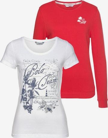 Tom Tailor Polo Team TOM TAILOR Polo Team Sweatshirt (Set, 2 tlg., mit T-Shirt) in Rot
