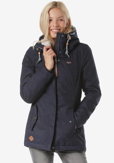 Ragwear Veste d'hiver en bleu foncé: Vue de face