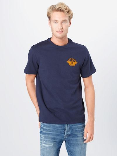 Dockers Shirt in dunkelblau / orange: Frontalansicht