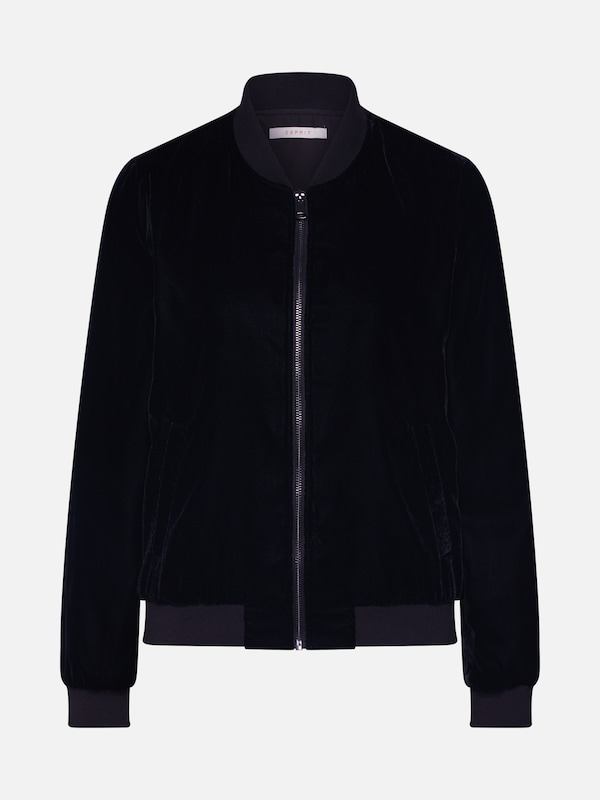 ESPRIT Jacke 'Velvet Bomber' in schwarz