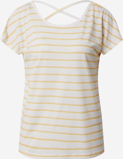 VERO MODA Shirt 'VMHANNELUA' in gelb / weiß, Produktansicht