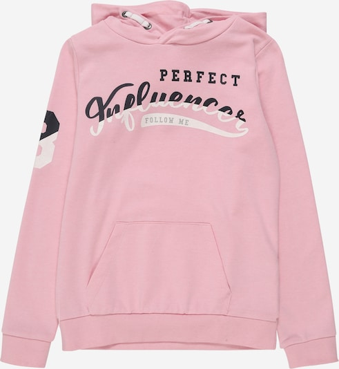 NAME IT Sweatshirt 'NKFDINF  LS SWEAT W HOOD UNB' in rosa, Produktansicht