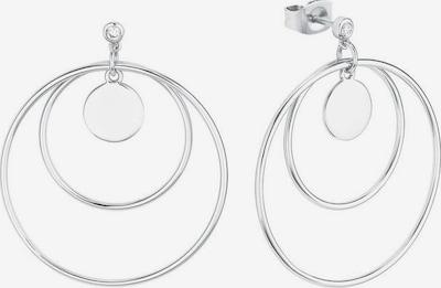 AMOR Ohrstecker 'Kreis In Kreis' in silber, Produktansicht