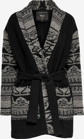 ONLY Gebreide mantel in de kleur Grijs / Zwart gemêleerd, Productweergave