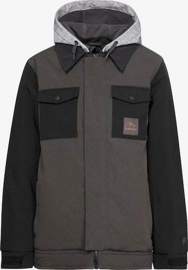 PROTEST Snowboardjacke 'Air' in grau / dunkelgrün / schwarz, Produktansicht