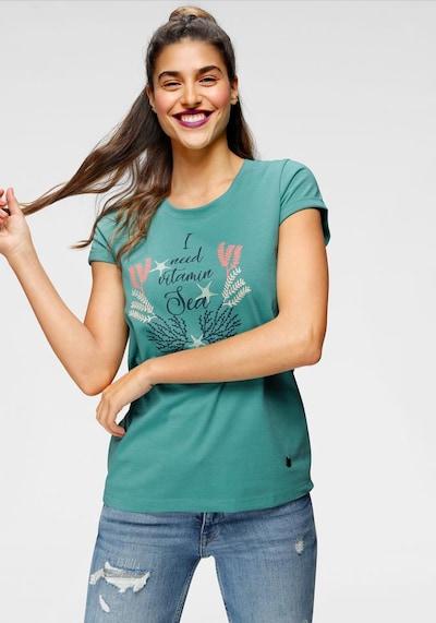 OCEAN SPORTSWEAR T-Shirt in türkis / schwarz: Frontalansicht