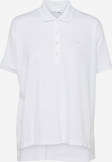 LACOSTE T-shirt en blanc, Vue avec produit