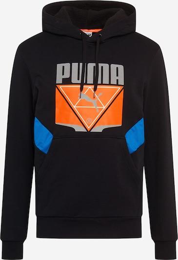 Megztinis be užsegimo iš PUMA , spalva - mėlyna / šviesiai pilka / tamsiai oranžinė / juoda, Prekių apžvalga
