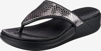 Crocs Zehentrenner in schwarz, Produktansicht