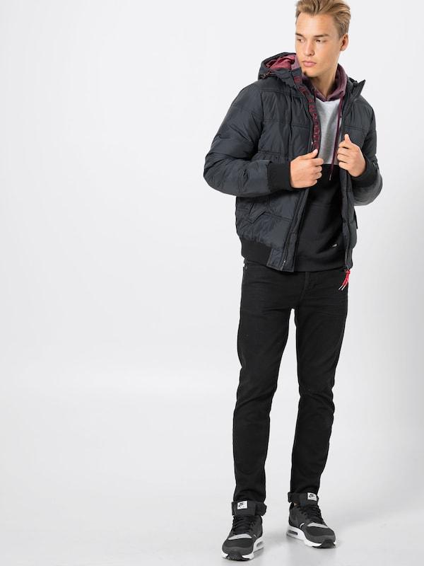 Veste Indicode 'eton' Noir D'hiver En Jeans SVzUMp