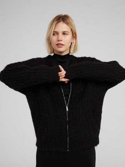 EDITED Strickjacke 'Dillan' in schwarz, Modelansicht