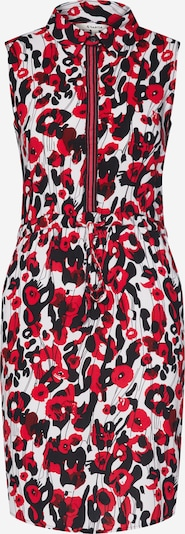GARCIA Kleid in rot / bordeaux / schwarz / weiß, Produktansicht