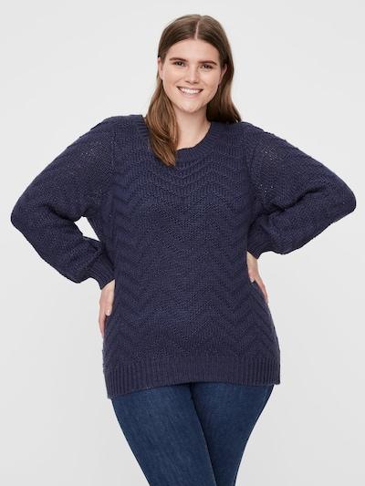 Junarose Pullover in blau, Modelansicht