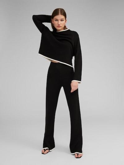 EDITED Broek 'Maxima' in de kleur Zwart / Wit, Modelweergave
