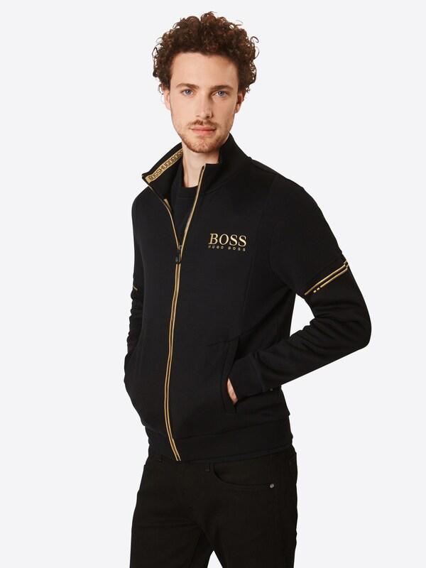 BOSS BOSS BOSS Sweatjacke 'Skaz 10134333 01' in Gold   schwarz  Neue Kleidung in dieser Saison f38dee