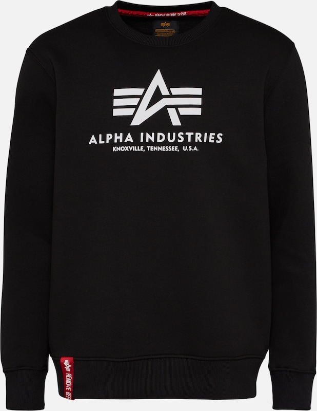 ALPHA INDUSTRIES Sweatshirt in schwarz, Produktansicht