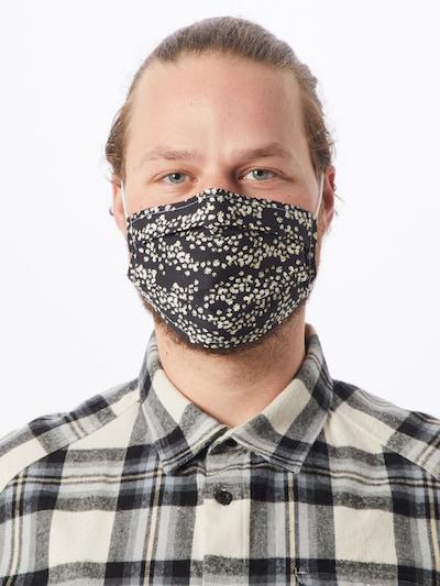 Zwillingsherz Stoffmasken '2er Pack Sternregen' in schwarz / weiß: Frontalansicht