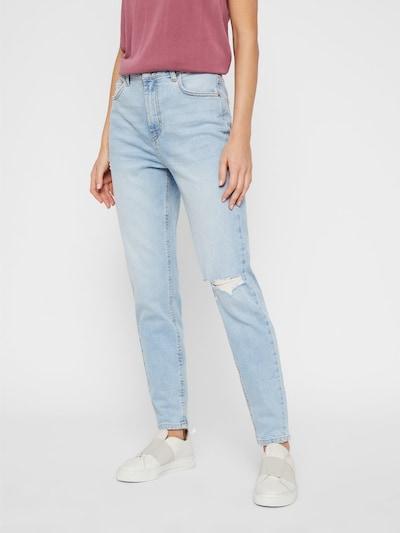 PIECES Teksapüksid sinine, Modellivaade