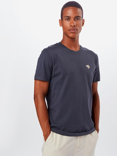 Hafendieb T-Shirt 'Granaat' en bleu foncé: Vue de face