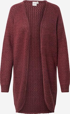 ICHI Knit Cardigan 'Olanda' in Red