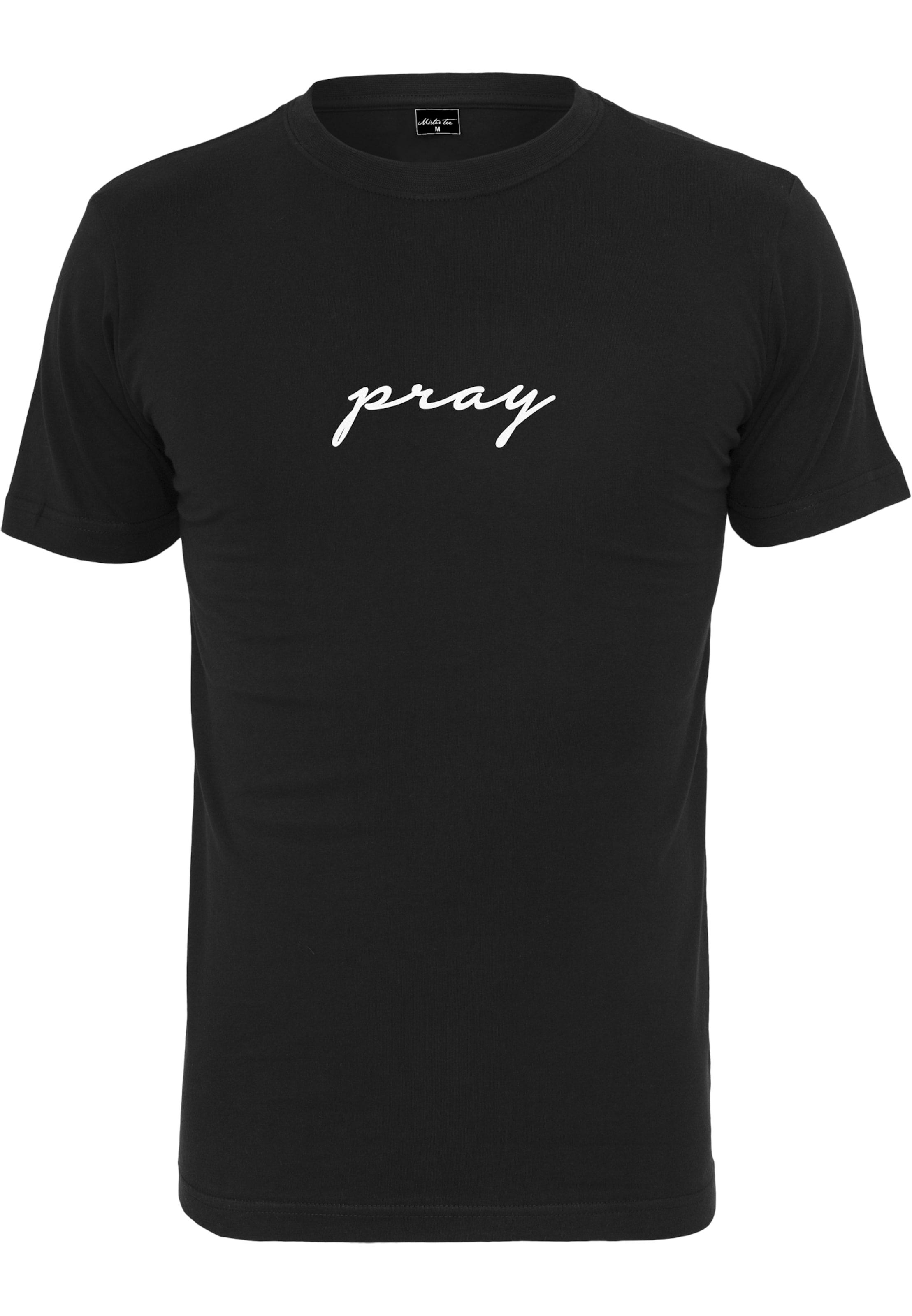 SchwarzWeiß Emb' Mister Tee 'pray shirt In T doBCrex