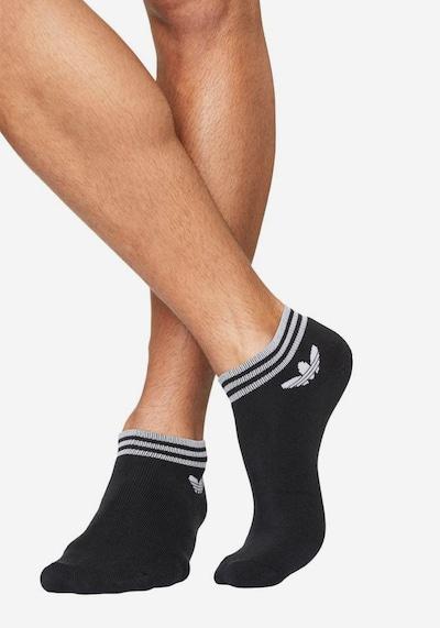 ADIDAS ORIGINALS Sneakersocken (3 Paar) in schwarz / weiß, Modelansicht